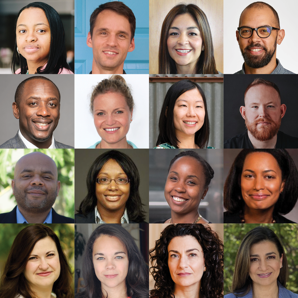 2020-2021 Fulcrum Fellows (Combined Headshots in a Square Formation)